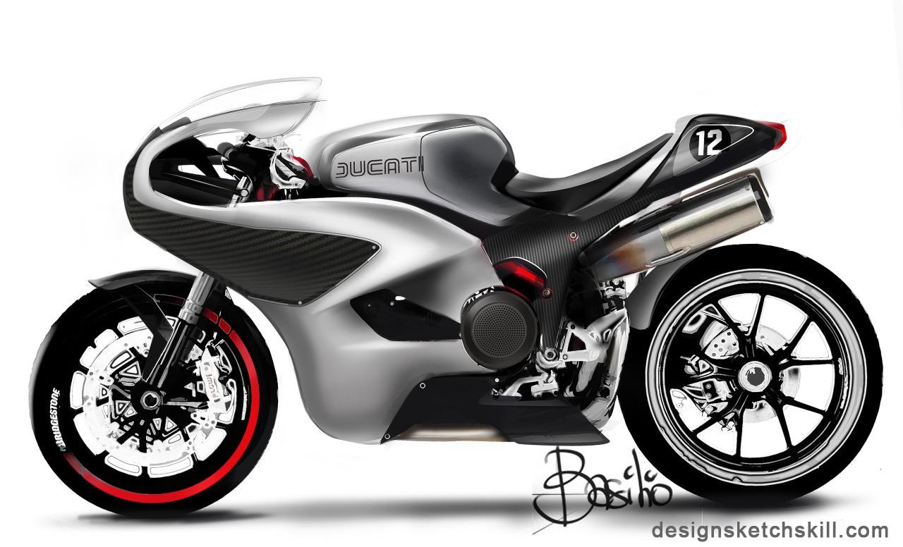 摩托车手绘设计